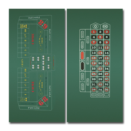 Roulette and Craps felt layouts