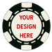 Hot stamped custom poker chips with your artwork - six stripe chips