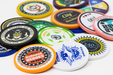 11.5 gram custom full color poker chips with a solid edge design
