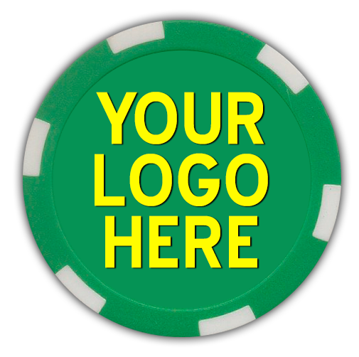 6 stripe full color poker chips - customized by you