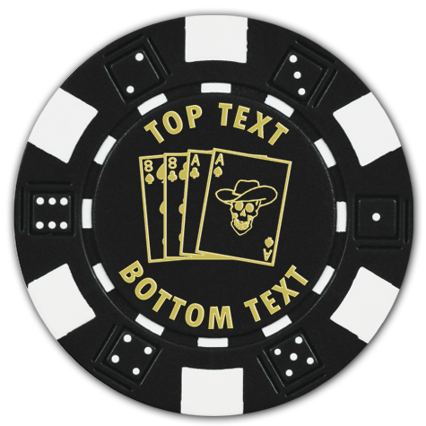 Dice custom poker chips with pre-designed themes - Just add your text