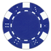 Blue classic dice design 11.5 gram poker chips - set of 50 poker chips