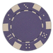 Purple classic dice design 11.5 gram poker chips - set of 50 poker chips
