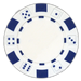 White classic dice design 11.5 gram poker chips - set of 50 poker chips