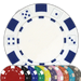Classic dice design 11.5 gram poker chips in multiple colors