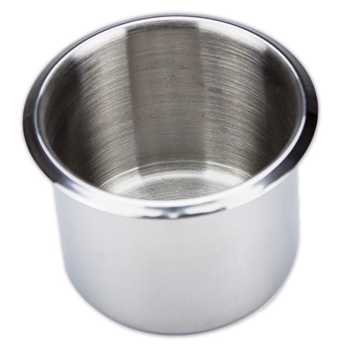 Drop in stainless steel poker table cup holders