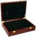 Wood glossy poker chips case with glass fram top and room for 200 poker chips