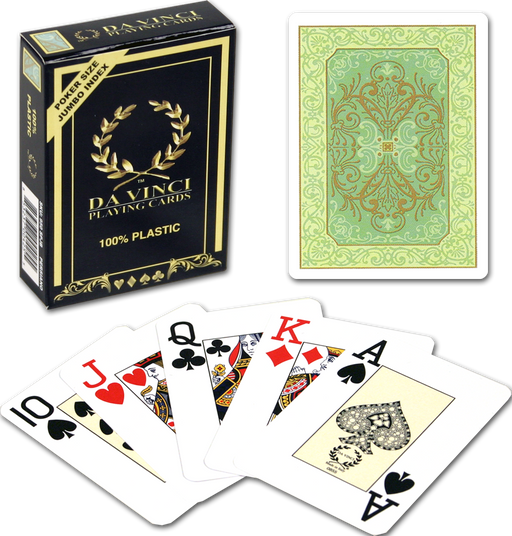 Persiano plastic playing cards by DA VINCI - Green deck