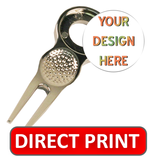 Golf divot tool with custom removable ball marker - GDT1