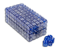 200 blue translucent casino gaming 16mm dice