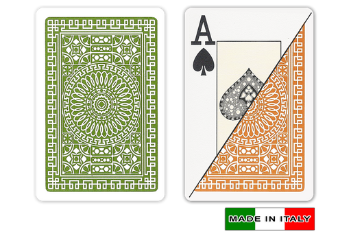 Italian plastic playing cards by DA VINCI - Palermo design in bridge size and large index