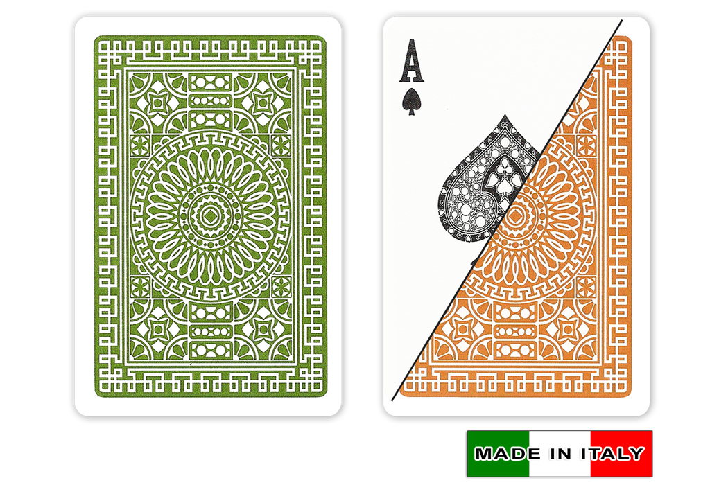 Italian plastic playing cards by DA VINCI - Palermo design in Bridge size and normal index