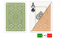 Italian plastic playing cards by DA VINCI - Palermo design in poker size and large index