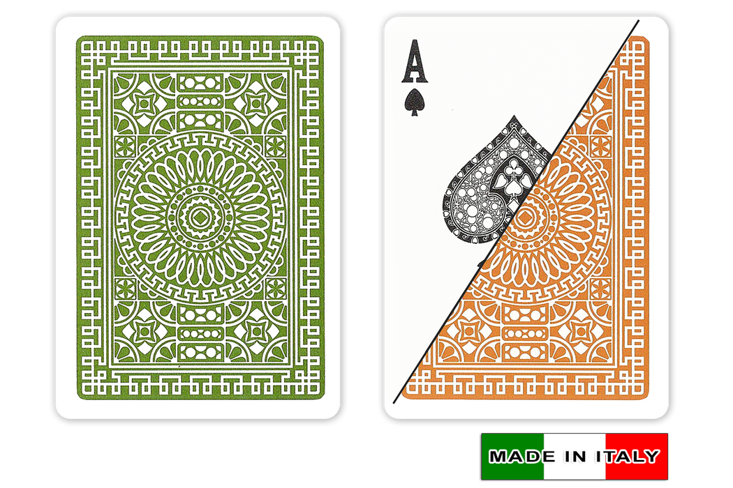 Italian plastic playing cards by DA VINCI - Palermo design in poker size and normal index