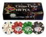 100 Dice Straight Flush 11.5 gram poker chips in retail gift box