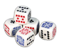 Poker playing cards dice - set of 5