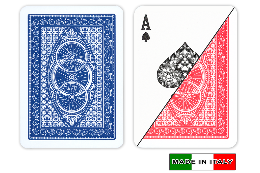 Ruote by DA VINCI Italian plastic playing cards - Poker size normal index