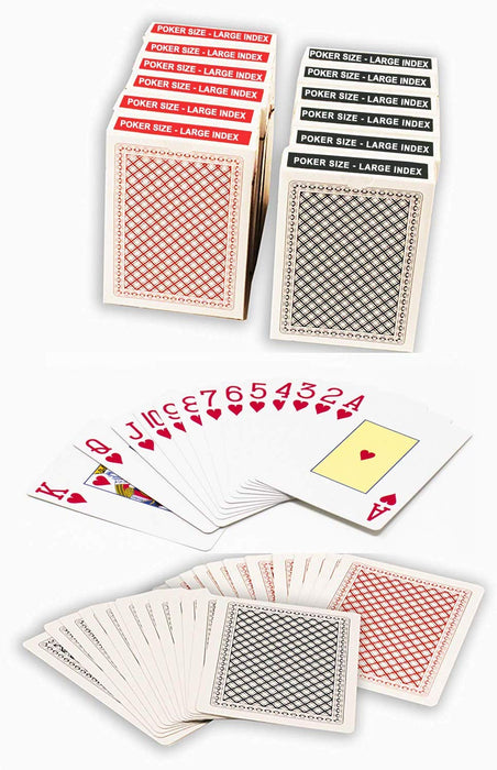 Value priced plastic coated playing cards - Poker size large index