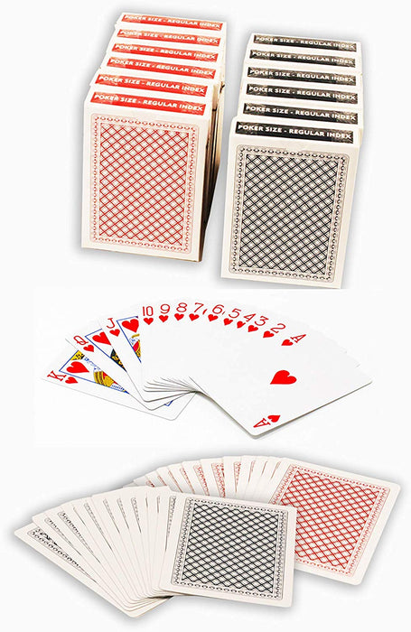Value priced plastic coated playing cards - Poker size normal index