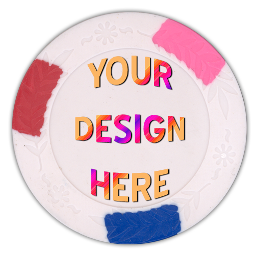 quad color full color poker chips - customized by you
