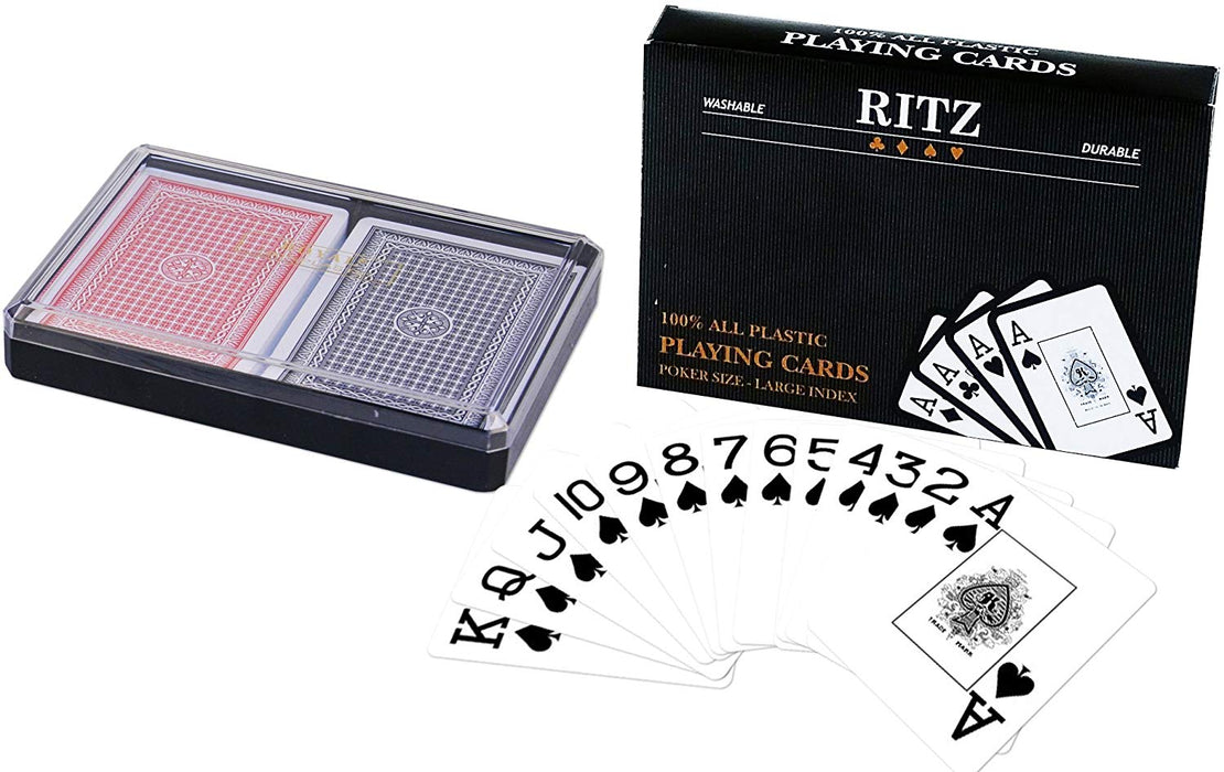 100% poker playing cards by RITZ - Large index