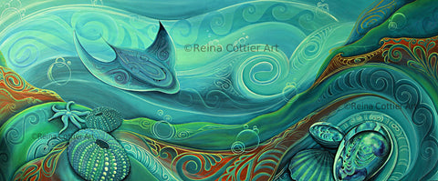 Canvas Print - NZ / Aotearoa Seabed (5 sizes)