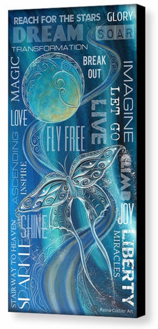 Canvas Print - Fly Free Word Art (3 sizes)