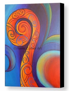 Canvas Print -Red Koru