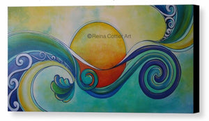 Canvas Print - Sun Surf (3 sizes)