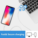 Load image into Gallery viewer, iPhone Charger, 2 Pack 6FT Lightning Cable Fast Charging Data Sync Transfer Cord with Dual Port USB Wall Charger