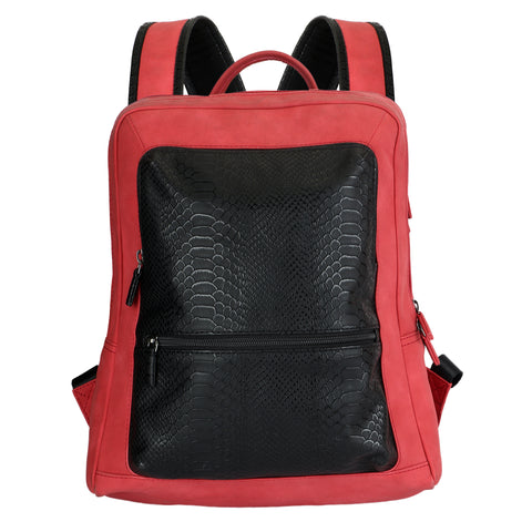 Red and White backpack by Squareloop