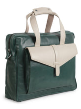Load image into Gallery viewer, Green & White Soft Leather Bag
