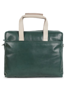 Green & White Soft Leather Bag