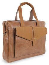 Load image into Gallery viewer, Brown Soft Laptop Bag