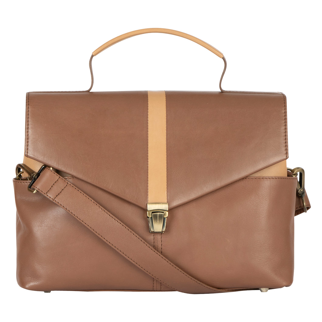 Folded Flap Brown