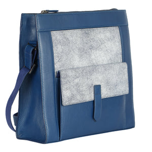 Crackle Tote (Blue)