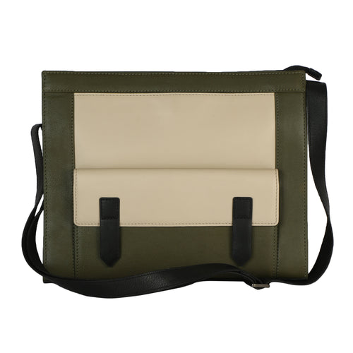 Structured Small Tote (Olive)