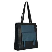 Load image into Gallery viewer, Structured Tall Tote (Blue) - INDIAN OCEAN