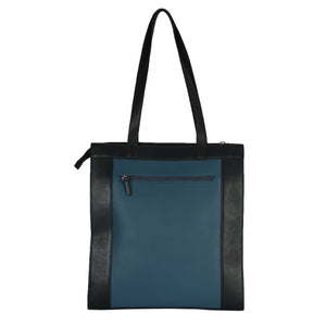 Structured Tall Tote (Blue) - INDIAN OCEAN