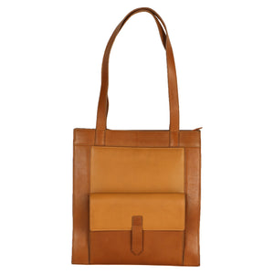 Structured Tote Tan