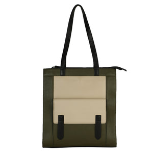 Structured Tall Tote (Olive)