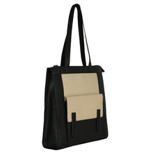 Load image into Gallery viewer, Structured Tall Tote (Black) - The Night Sky