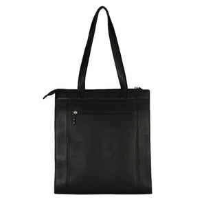 Structured Tall Tote (Black) - The Night Sky