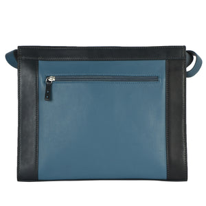 STRUCTURED SMALL TOTE (BLUE)