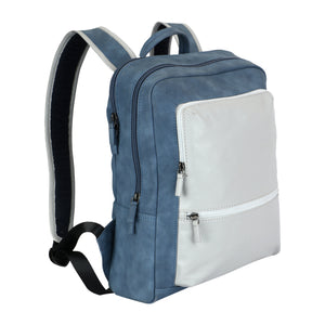 Wayfarer Back Pack Blue&White