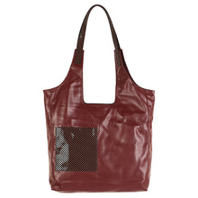 Load image into Gallery viewer, Soft Tote with Square Pocket - Maroon & Black (Large)