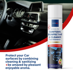 Northmed Premium Alcohol-Free Sanitizer, Disinfectant & Cleaner for Car Surfaces +Air Freshener (Vanilla, Fruits & Cedar bark aroma), 250ml