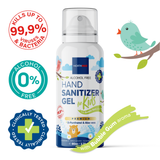 Northmed Premium Alcohol-Free Hand Sanitizer Gel for Kids with Bubble Gum aroma Spray, 80ml