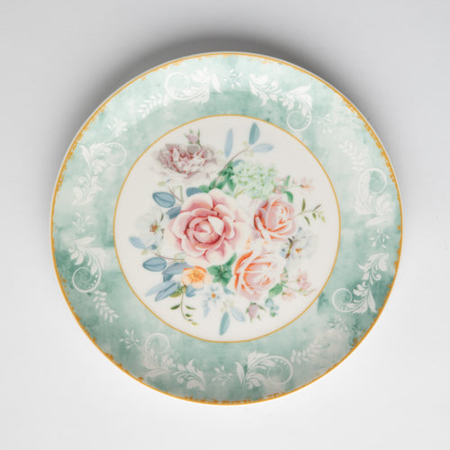 JENNA CLIFFORD - Green Floral Side Plate Set of 4