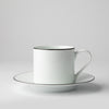 JENNA CLIFFORD - Premium Porcelain Cappuccino Cup & Saucer With Black Band